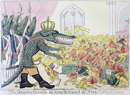 The Corsican Crocodile dissolving the Council of Frogs